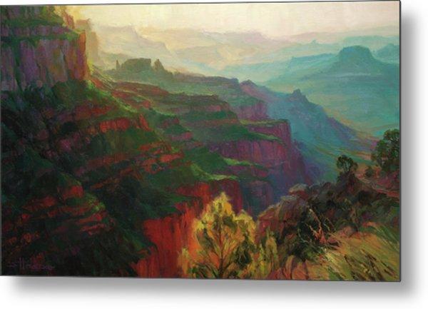 Canyon Silhouettes Metal Print
