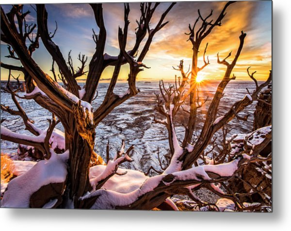 Canyonlands Winter Sunset Metal Print