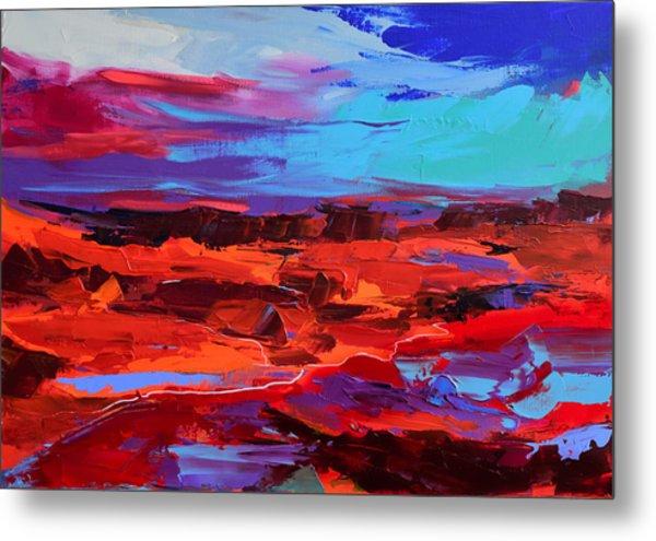 Canyon At Dusk - Art By Elise Palmigiani Metal Print