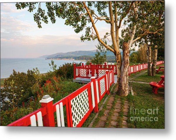 Metal Print featuring the photograph Cap-de-la-madeleine Lookout by Elena Elisseeva