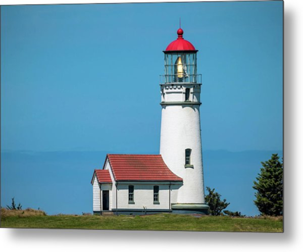 Cape Blanco Lighthouse At Cape Blanco, Oregon Metal Print