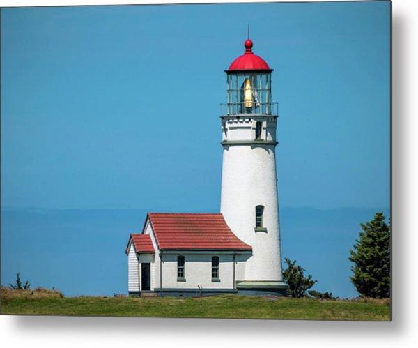 Cape Blanco Lighthouse At Cape Blanco, Oregon Metal Print
