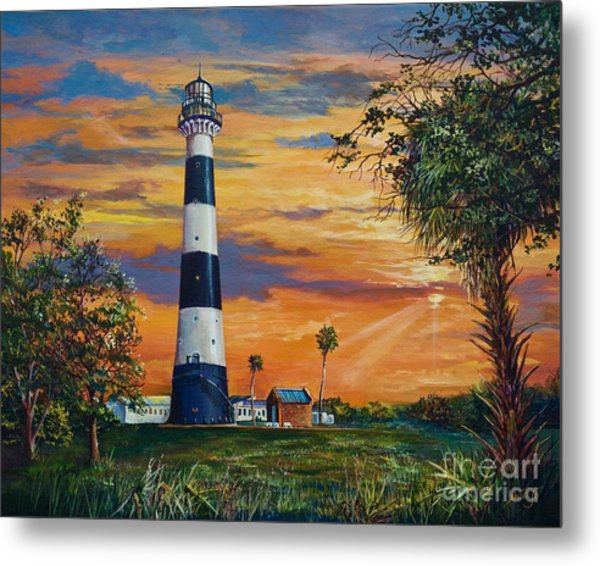 Cape Canaveral Light Metal Print