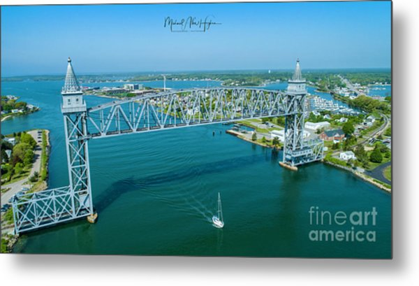 Cape Cod Canal Suspension Bridge Metal Print