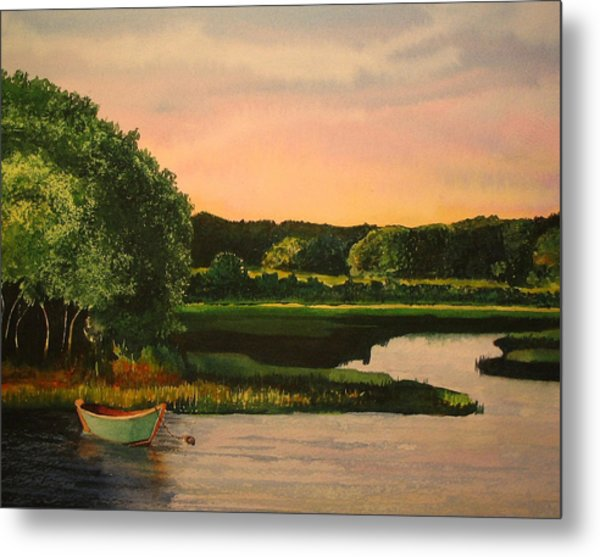 Cape Cod Dory Metal Print by Sharon Farber