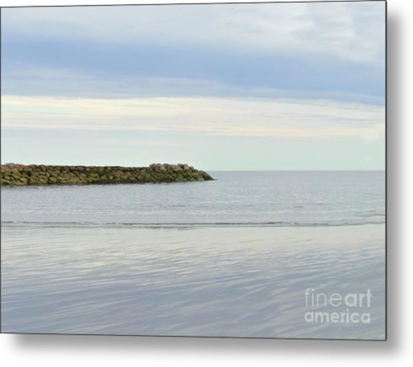 Cape Cod Jetty Sundown Metal Print