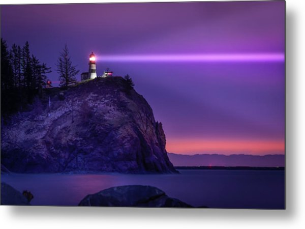 Cape Disappointment Light Metal Print