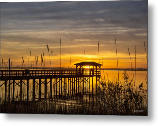 Cape Fear Sunset Fort Fisher Metal Print