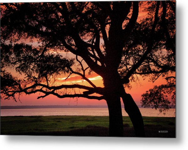 Cape Fear Sunset Overlook Metal Print