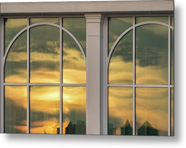 Cape May Abstract Sunset Reflection Metal Print