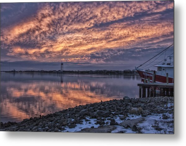 Cape May Harbor Sunrise Metal Print