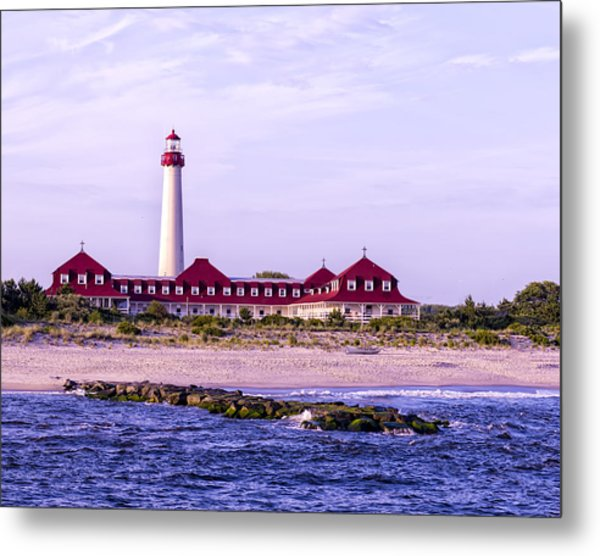 Metal Print featuring the photograph Cape May Light House by Linda Constant
