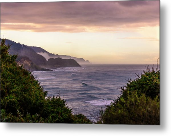 Cape Perpetua, Oregon Coast Metal Print