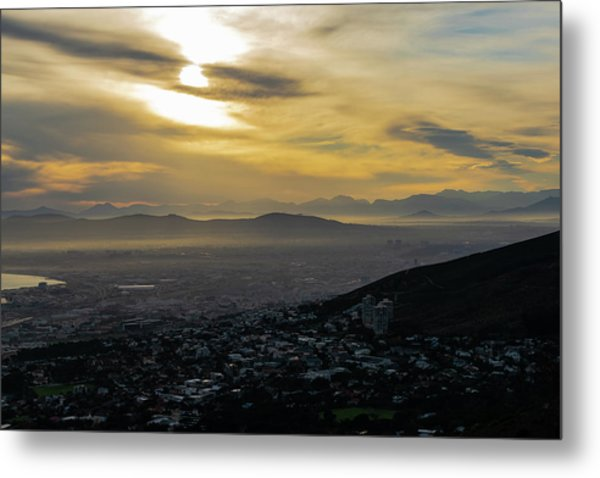 Cape Town Morning From Table Mountain Metal Print