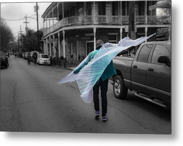 Caped Street Dancer On Frenchmen Street Metal Print