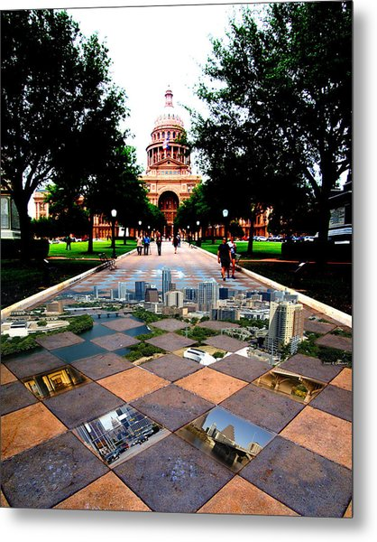 Capital City Collage Austin Texas Metal Print