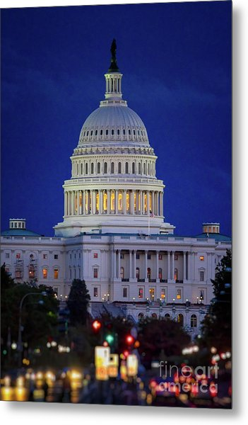Capitol At Dusk Metal Print