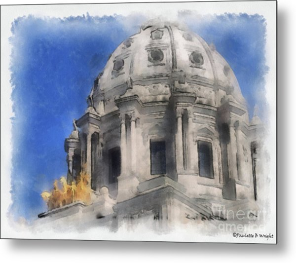 Capitol Dome St Paul Minnesota Metal Print
