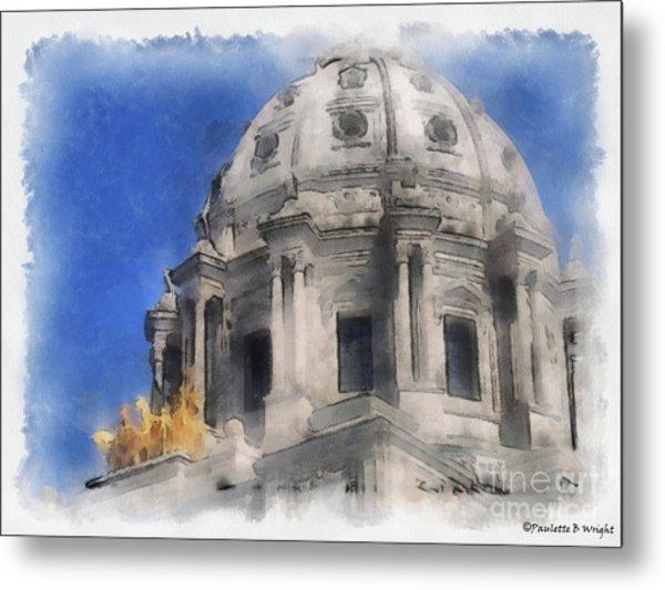 Capitol Dome St Paul Minnesota Metal Print