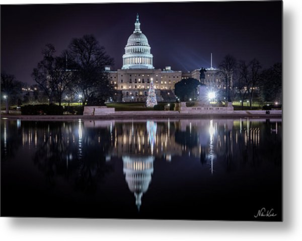 Capitol Reflects Metal Print