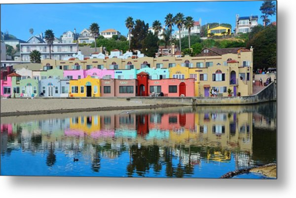 Capitola California Colorful Hotel Metal Print