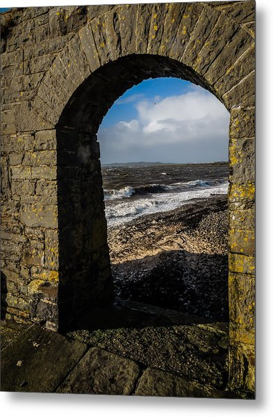 Cappagh Pier And Ireland's Shannon Estuary Metal Print