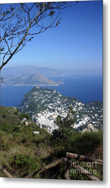 Capri At The Top Metal Print by Dennis Curry
