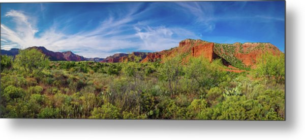 Caprock Canyon Panorama 2 Metal Print