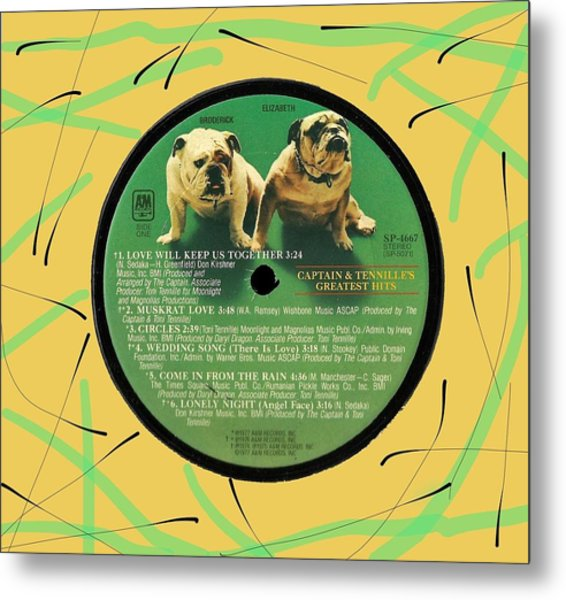 Captain And Tennille Greatest Hits Lp Label Metal Print