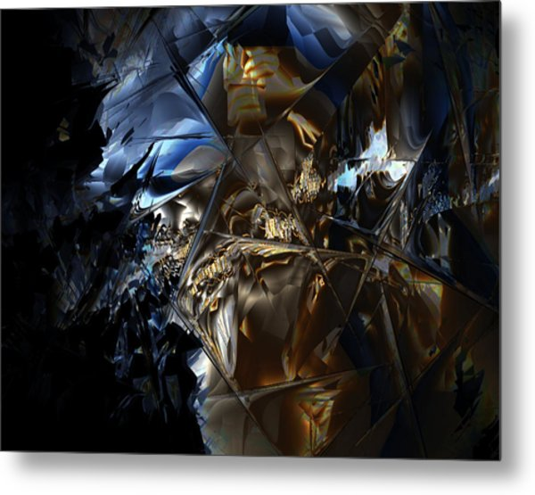Metal Print featuring the digital art Captain Jack by Vadim Epstein