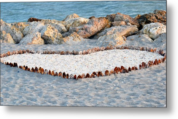 Captiva Love Metal Print