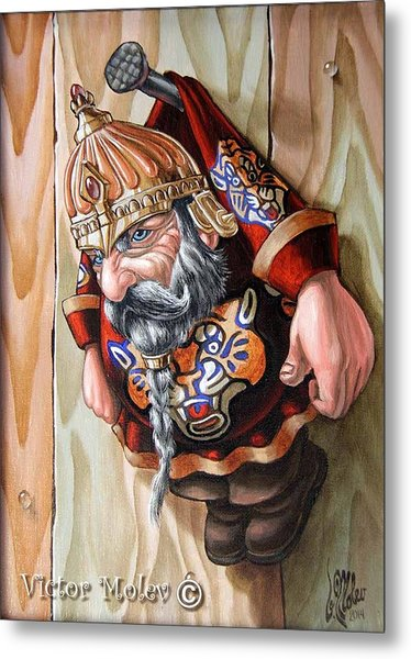 Captive Dwarf In Tiger Suit Metal Print