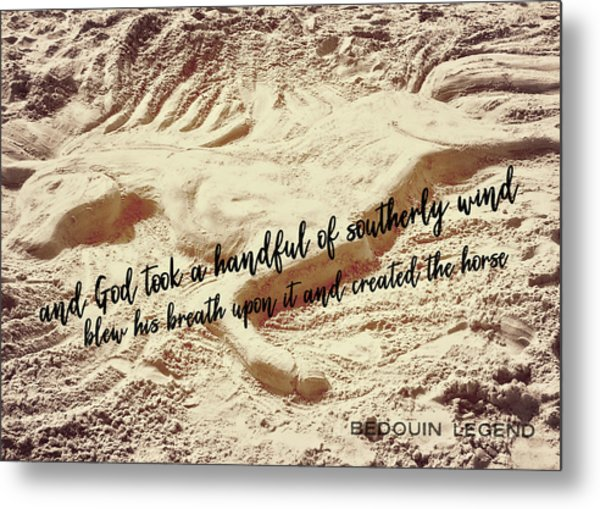 Captured In The Sand Quote Metal Print