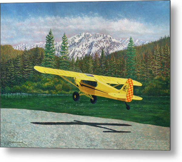 Carbon Cub Riverbank Takeoff Metal Print