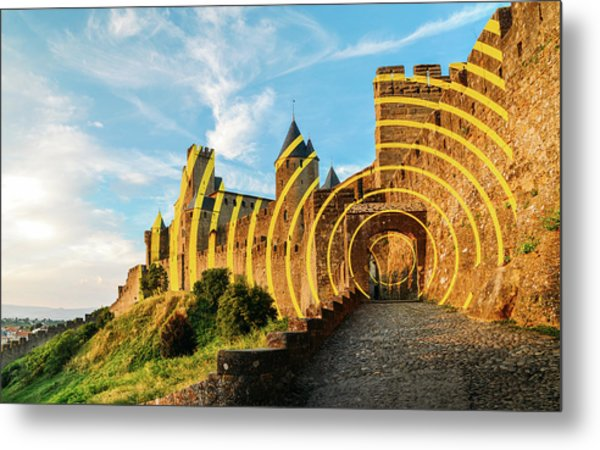 Carcassonne's Citadel, France Metal Print
