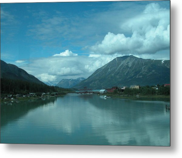 Carcross - So Much Blue Metal Print by William Thomas