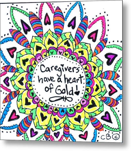 Caregiver Flower Metal Print