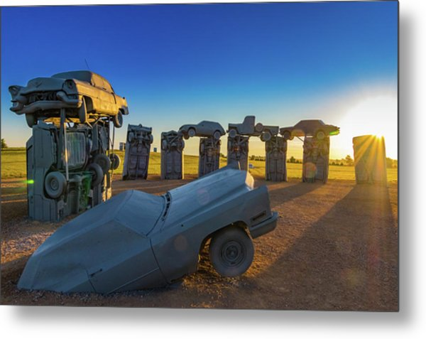 Carhenge Sunrise Metal Print by David Brown Eyes