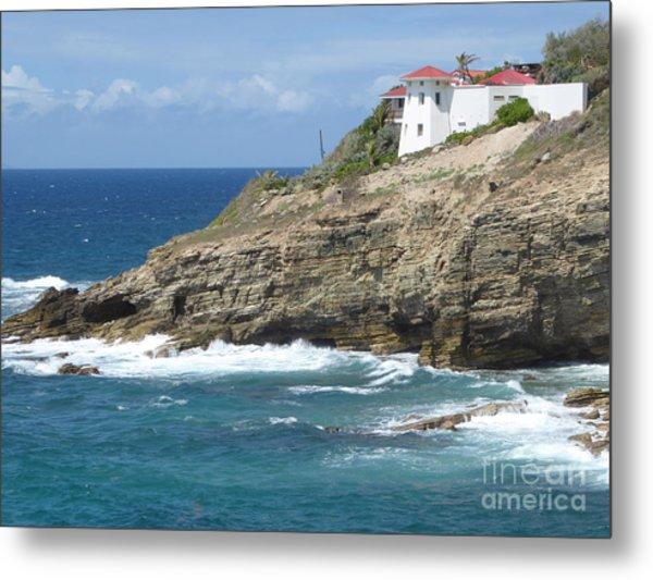 Caribbean Coastal Villa Metal Print