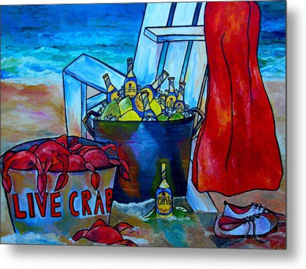 Caribe And Crab Metal Print