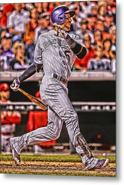 Carlos Gonzalez Colorado Rockies Art 2 Metal Print