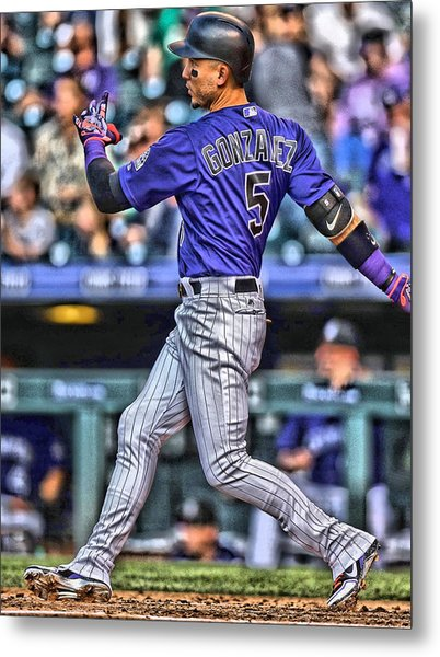 Carlos Gonzalez Colorado Rockies Art 3 Metal Print