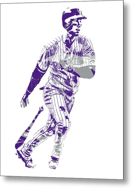 Carlos Gonzalez Colorado Rockies Pixel Art 10 Metal Print