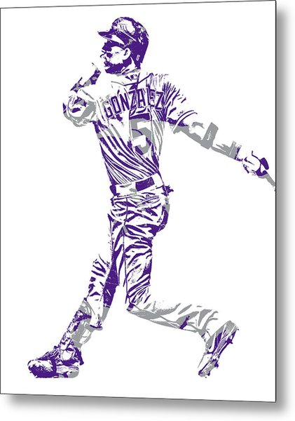 Carlos Gonzalez Colorado Rockies Pixel Art 11 Metal Print