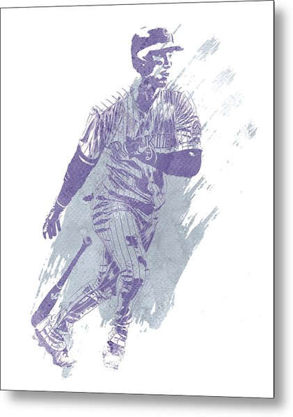 Carlos Gonzalez Colorado Rockies Water Color Art 1 Metal Print