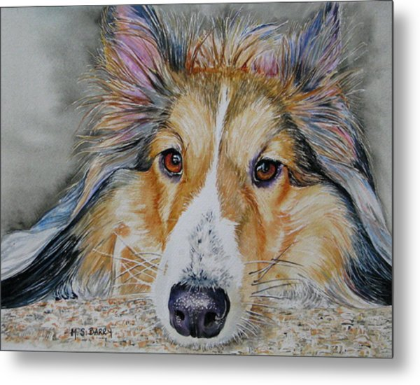 Carly Metal Print by Maria Barry