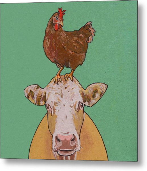 Carlyle The Cow Metal Print