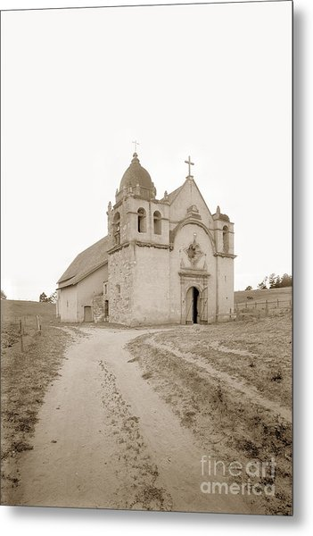 Carmel Mission South Side Circa 1915 Metal Print