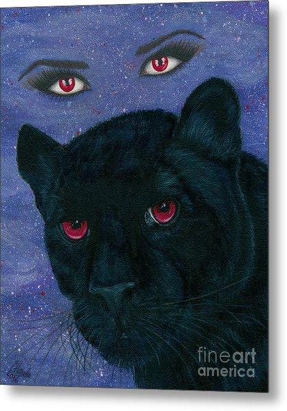 Carmilla - Black Panther Vampire Metal Print