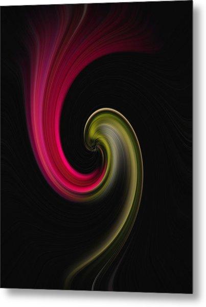 Carnation Twirl Metal Print